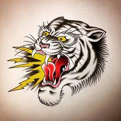 Follow and tag @inkedmagz to get featured #tattoo #tattoos #tattooart #tattoodesign #tattooflash #traditionaltattoo #ink #inked #inkedlife #tiger #tigerflash #draw #drawing #old #oldschool #roar #manuelcalimera by bredzz