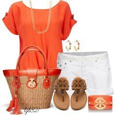 Orange & White is a great combo! #ReclaimedBrands #Orange #White