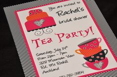 Mad Tea Party Bridal Shower | Alice in Wonderland & Mad Hatter inspired Tea Party invitation ...