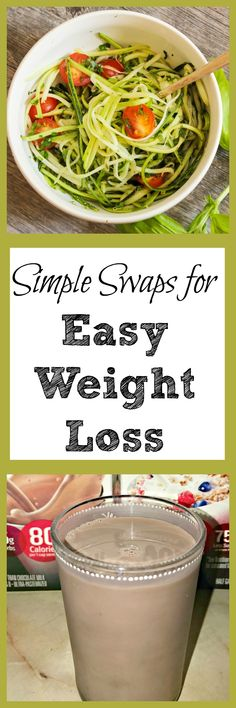 Looking for a way to get easy weight loss but don't have time to worry about calories? Try these easy weight loss swaps and tips. via @debitalks