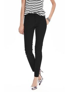 New Sloan-Fit Slim Ankle Pant | Banana Republic - I live in these but I heard they changed the sizing