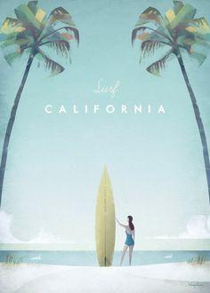 Vintage Surfing, Surf Vintage, Retro Surf, Vintage Hawaii, California Surf, Vintage California, California Vacation, Poster Surf, Surf Posters