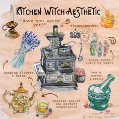 Kitchen Witch Aesthetic Print - Wall Art