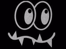 Reflektierendes Bügelbild Monster Gesicht