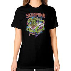 Godlike Octopus Unisex T-Shirt (on woman)