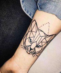 Tattoo - Geometric cat tattoo on forearm awesome Geometric Tattoo - Geometric cat tattoo on forearm.awesome Geometric Tattoo - Geometric cat tattoo on forearm. Trendy Tattoos, New Tattoos, Tattoos For Guys, Tattoos For Women, Cool Tattoos, Tatoo Cat, Deer Tattoo, Tattoo On, Tattoo Music
