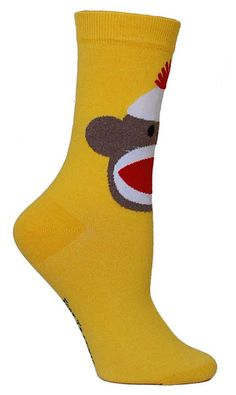 For those who love Sock Monkeys! Fits a women's shoe size 5-10.