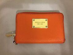 MICHAEL KORS jet set wallet designer pumpkinorangetangerine MK wallets