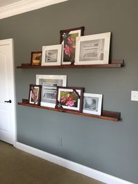 Easy picture-ledge shelves (and staining technique) | Bower Power Blog