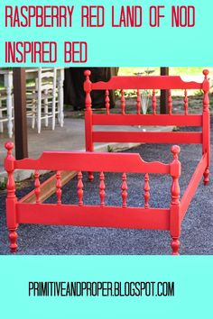 Land of Nod inspired Raspberry Red Spindle Bed - gives the paint color!