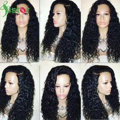 Brésilienne Full Lace Perruques de Cheveux Humains Pour Les Femmes Noires Profonde Bouclés avant de Lacet Perruques Avec Des Cheveux de Bébé Sans Colle Avant de Lacet de Cheveux Humains perruque