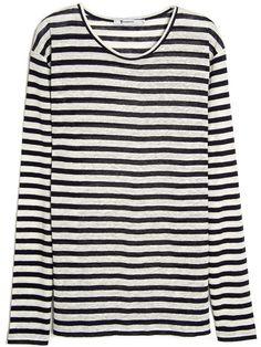 088a26db70e T by Alexander Wang linen stripe long sleeve tee