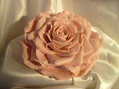 "Romantic Sugar Gumpaste Blush Pink Edible 5"" Rose Cake Top or Cake Decor $50.00"