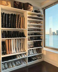 Ikea Closet, Closet Storage, Wardrobe Organisation, Closet Organization, Organization Ideas, Wood Closet Organizers, Decoration Gris, Master Bedroom Closet, Bedroom Wardrobe