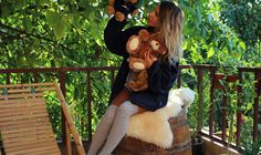 #autumn #outfit #polar #blonde #tan #teddy #overtheknee #socks #unedited #uneditedlife.com #unedited