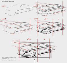 Car sketch tutorial by Marcin