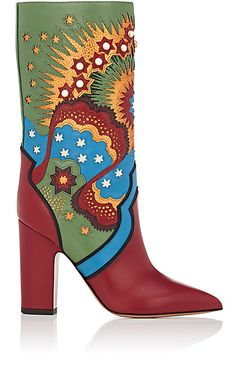 We Adore: The Enchanted Leather Mid-Calf Boots from Valentino at Barneys New York
