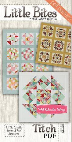 Titch Little Bites Downloadable PDF Quilt Pattern<BR>Miss Rosie's Quilt Company