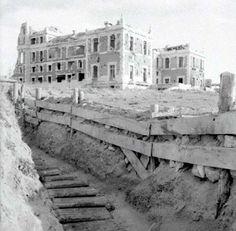 Spain - 1939. - GC - Trinchera junto a la Casa de Velázquez. CIUDAD UNIVERSITARIA.