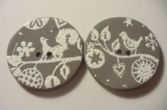 Handcrafted polymer clay buttons