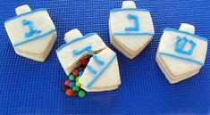 Hebrew Treasure Top Treats - The Dreidel Surprise Cookies Contain Candy Hidden Inside (GALLERY)