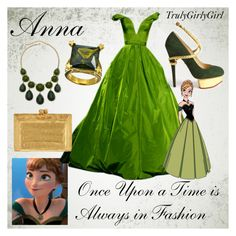 """""""Disney Style: Anna"""" by trulygirlygirl ❤ liked on Polyvore featuring Disney, Charlotte Olympia, Nancy Gonzalez and AL-X-A"""