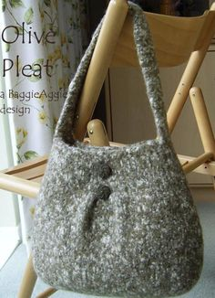 No-Sew Felted Bag / Purse - Pleat | Craftsy