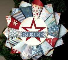 Something From Cassie: Paper Cone Wreath Gift Card Holder+Tutorial