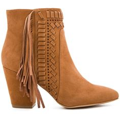 Rebecca Minkoff Ilan Bootie (385 BRL) ❤ liked on Polyvore featuring shoes, boots, ankle booties, booties, botas, ankle boots, fringe ankle boots, cutout booties, fringe high heel boots and fringe bootie
