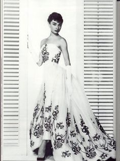 "Audrey Hepburn in Givenchy wedding dress from ""Funny Face"""