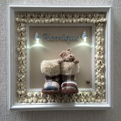 Baby Crafts, Diy And Crafts, Arts And Crafts, Baby Room Furniture, Baby Room Decor, Baby Shower Deco, Picture Frame Crafts, Christmas Teddy Bear, Baby Frame