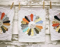 Dresden Placemats Hanging on Clothesline