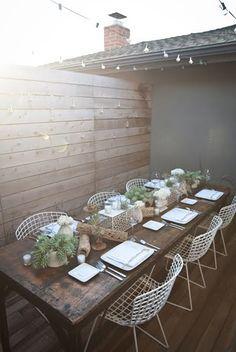 pretty deck dining