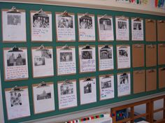 This is a lovely idea a wall to display photos of the children's families, pets and special people, used as a starting point for chat and discussion.