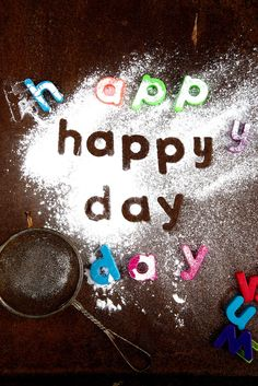 Learn letters with icing sugar! Fun and simple messy play and learning activity
