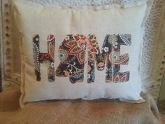 Mississippi HOME appliqued pillow by Gigisstitches on Etsy, $25.00