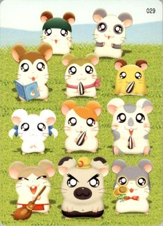 Other Non-Sport Trading Card Merchandise Hamtaro, Hamster Live, Cartoon Art Styles, 90s Nostalgia, Rilakkuma, Manga Games, Me Me Me Anime, Yoshi, How To Draw Hands