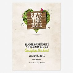 Wedding Save the Date Printable PDF - Heartchery