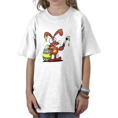 Easter Bunny Tshirt. #Zazzle #Cardvibes #Tekenaartje #Easter