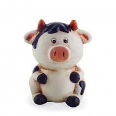 Terracotta Sitting Cow Money Box #moneybox #giftideas #cow