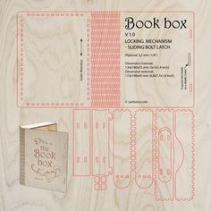 https://flic.kr/p/yTsaSd | Wooden Book box | cartonus.com/book-box/  Wooden book box with sliding bolt latch. Laser cut vector model. Project plan for laser cutting.