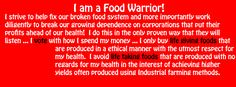 BE A FOOD WARRIOR