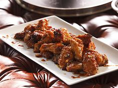 """Honey-Ginger Chicken Wings (Big Game) - Tiffani Thiessen, """"Dinner at Tiffani's"""" on the Cooking Channel. Best Chicken Wing Recipe, Chicken Wing Recipes, Baked Chicken, Healthy Food Options, Healthy Recipes, Chefs, Food Network Recipes, Cooking Recipes, Meal Recipes"""