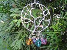 CHRISTMAS  FAMILY Tree Birthstone Charm by DestinyAccessory, $25.00