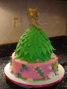 Pin Tinkerbell Doll Cake Flickr Photo Sharing On Pinterest