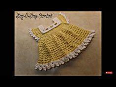 CROCHET How To #Crochet Sunshine & Roses Baby Dress 0-6 Months #TUTORIAL #352 LEARN CROCHET - YouTube