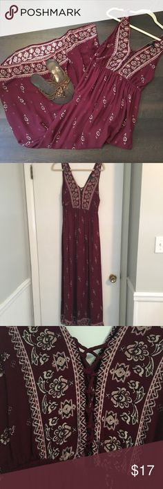 Forever 21 boho maroon/burgundy 👗 Perfect for fall. Bundle shoes to save. Re-poshing. Great dress but didn't fit right. 😥. Forever 21 Dresses Maxi