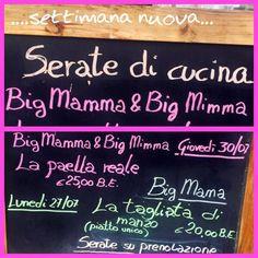 ....ultima settimana di luglio ....estate piena al BIG MAMA BEACH!!!!  Non mancare la tua cena a tema !!!!  Prenotala!!! Ti aspettiamo con amici bimbi parenti ....al BMB tutti sono i benvenuti !!!!
