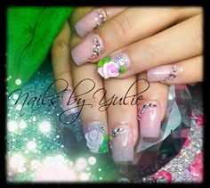 """""""Petals""""  Nails  New High 3D Rose, has movement around the petals..  Two color tone. With rose natural tone"""