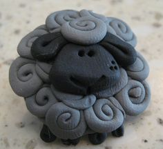 Designer art pin White or black Sheep Pin Badge Brooch great knitting gift sculpture wearable lamb crafter present wool History of Knitting Yarn spinning, weaving and stitching careers such as BC. Polymer Clay Kunst, Polymer Clay Animals, Fimo Clay, Polymer Clay Projects, Polymer Clay Jewelry, Bamboo Knitting Needles, Knitting Yarn, Sheep Crafts, Sheep Art